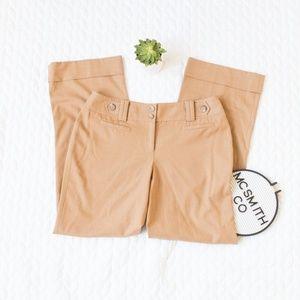 Ann Taylor | Lindsay Curvy Camel Button Dress Pant